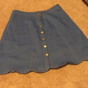 Chambray scalloped skirt from Francesca's